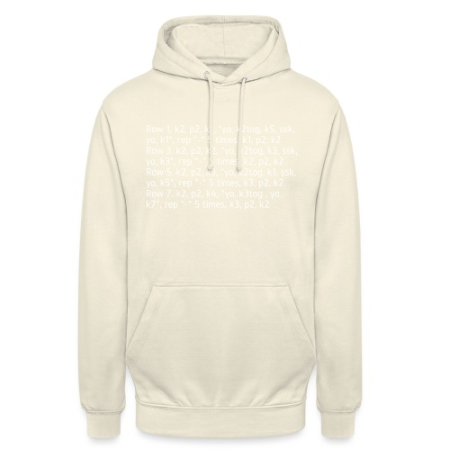 Knit Talk, light - Unisex Hoodie