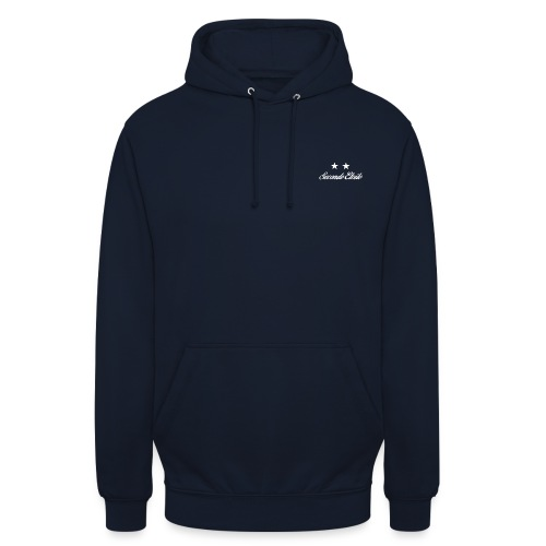 Seconde Etoile (Police blanche) - Sweat-shirt à capuche unisexe