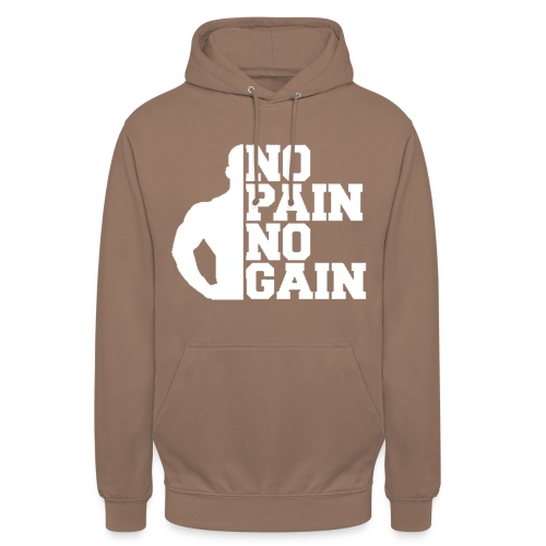 no pain no gain - Sweat-shirt à capuche unisexe