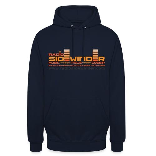 Radio Sidewinder logo and url dark - Unisex Hoodie