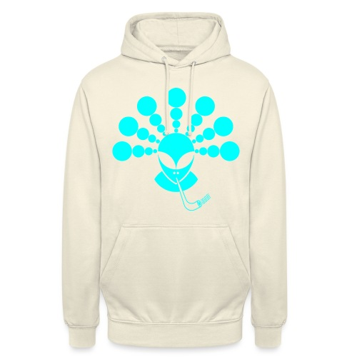 The Smoking Alien Light Blue - Unisex Hoodie