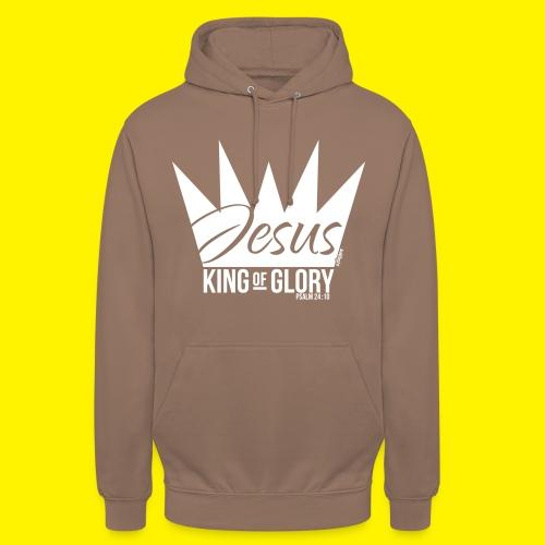 JESUS KING OF GLORY // Psalm 24:10 (WHITE) - Unisex Hoodie