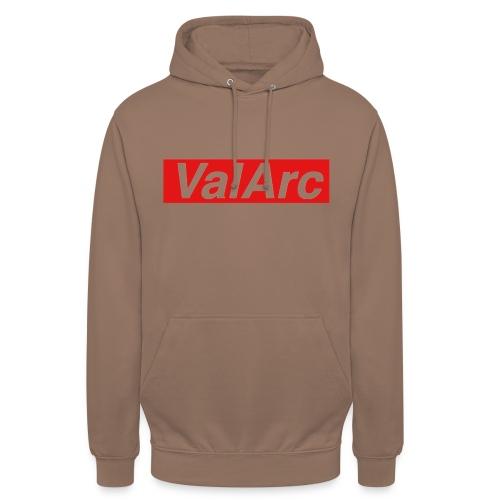 ValArc Text Merch Red Background - Sweat-shirt à capuche unisexe