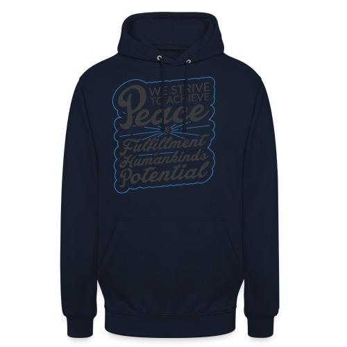 peace - Sweat-shirt à capuche unisexe