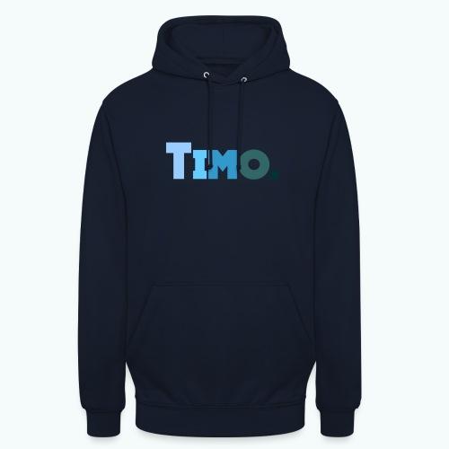Timo in blauwe tinten - Hoodie unisex