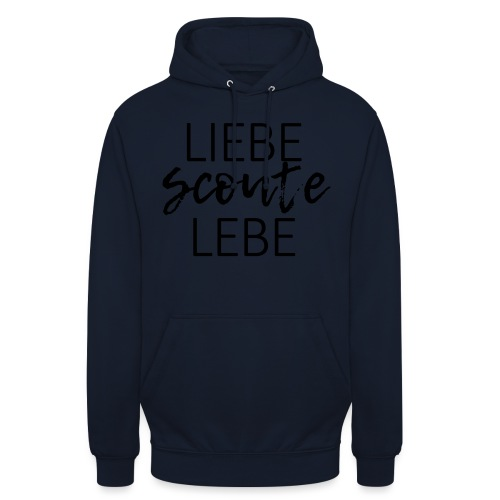 Liebe Scoute Lebe Lettering - Farbe frei wählbar - Unisex Hoodie
