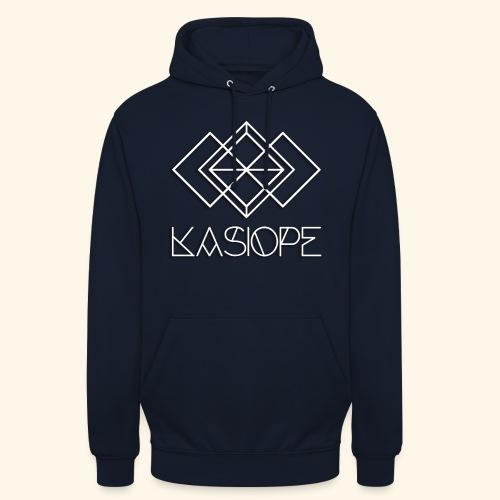 Logo Kasiope blanc - Sweat-shirt à capuche unisexe