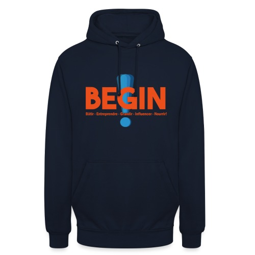 the begin project - Sweat-shirt à capuche unisexe