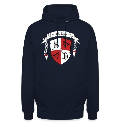 SD logo - hvide lænker - Hættetrøje unisex