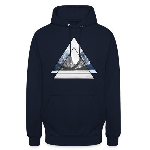 mountains geometric triangular landscape - Felpa con cappuccio unisex