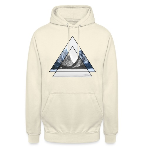 mountains geometric triangular landscape - Felpa con cappuccio unisex