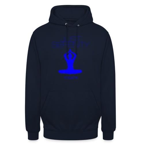 yogatyk blue - Sweat-shirt à capuche unisexe