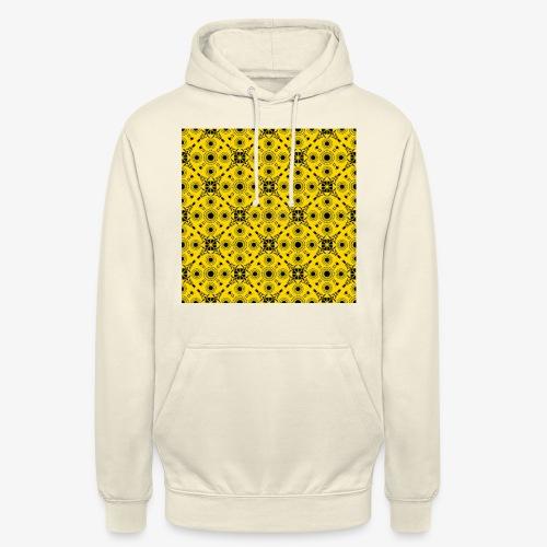 Design motifs jaune et noir - Sweat-shirt à capuche unisexe