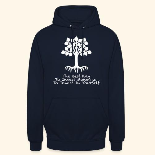 Printed T-Shirt Tree Best Way Invest Money - Felpa con cappuccio unisex