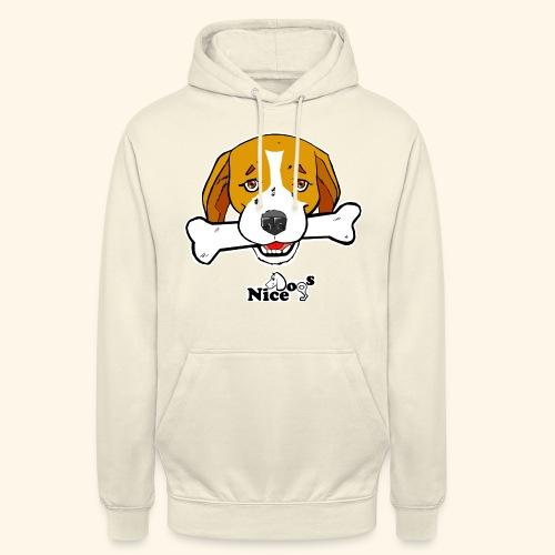 Nice Dogs Semolino - Felpa con cappuccio unisex