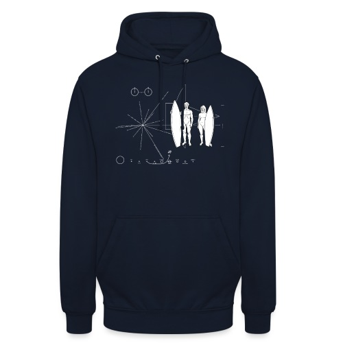 Surfboarder Pioneer plaque - Sweat-shirt à capuche unisexe