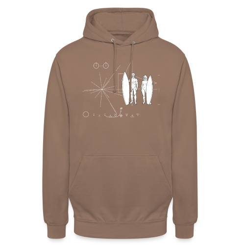 Surfboarder Pioneer plaque - Sweat-shirt à capuche unisexe