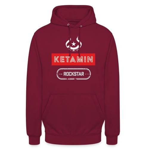 KETAMIN Rock Star - White/Red - Modern - Unisex Hoodie