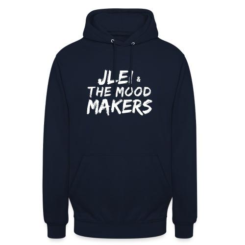 Jlei & The Mood Makers Schriftzug Weiss - Unisex Hoodie