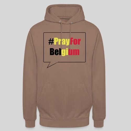 #PrayForBelgium - Sweat-shirt à capuche unisexe