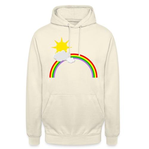 Regenbogen, Sonne, Wolken - Unisex Hoodie
