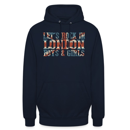 LET'S ROCK IN LONDON - Felpa con cappuccio unisex