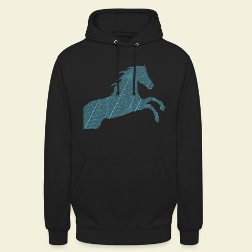 Cheval feuille - Sweat-shirt à capuche unisexe