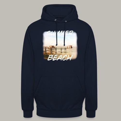 Summer on the beach - Sweat-shirt à capuche unisexe