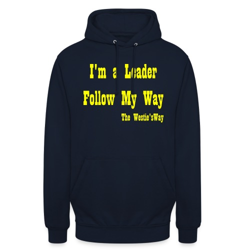 Follow My Way Yellow - Bluza z kapturem typu unisex