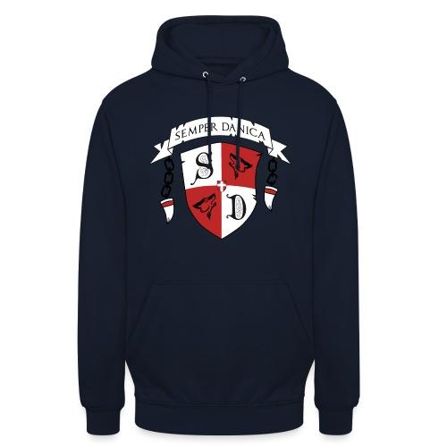 SD logo - sorte lænker - Hættetrøje unisex