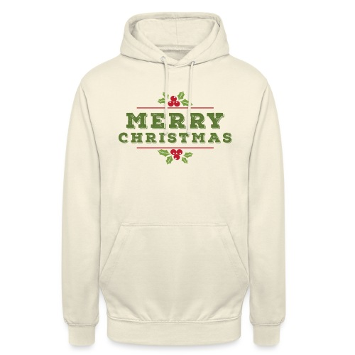 merry christmas, christmas present, christmas tree - Unisex Hoodie