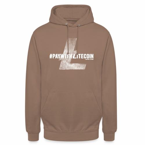 #paywithlitecoin - Felpa con cappuccio unisex