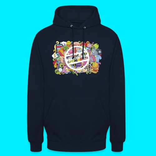 maglia logo doodle - Felpa con cappuccio unisex