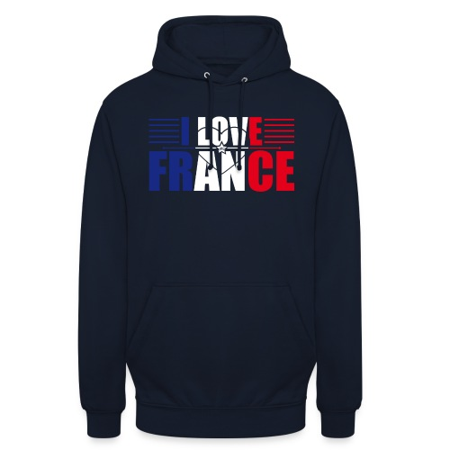 love france - Sweat-shirt à capuche unisexe