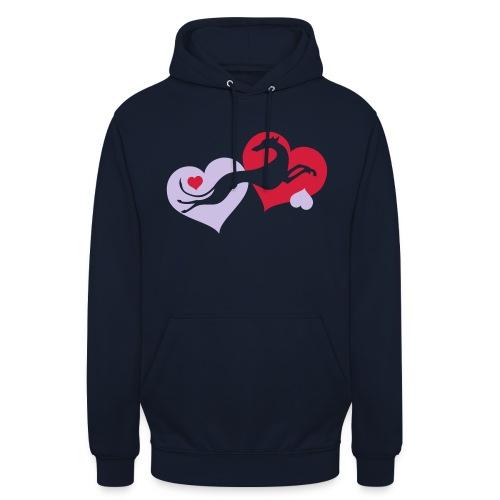 Lévrier Valentin - Sweat-shirt à capuche unisexe