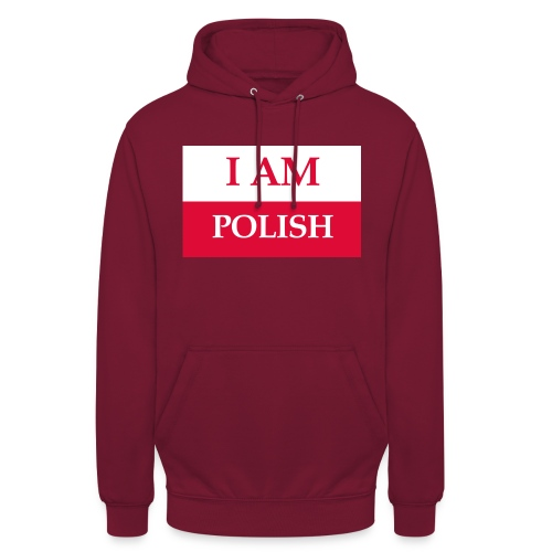 I am polish - Bluza z kapturem typu unisex