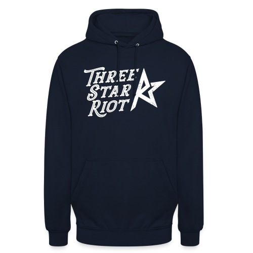 "Three Star Riot logo vaalea - Huppari ""unisex"""