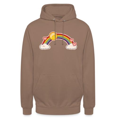 Regenbogen rainbow Wolke 7 Retro Grunge Vintage - Unisex Hoodie