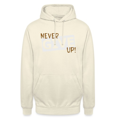 "Never Give Up - Huppari ""unisex"""
