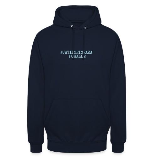 #jatilspinrazaforalle - lysblå - Unisex-hettegenser