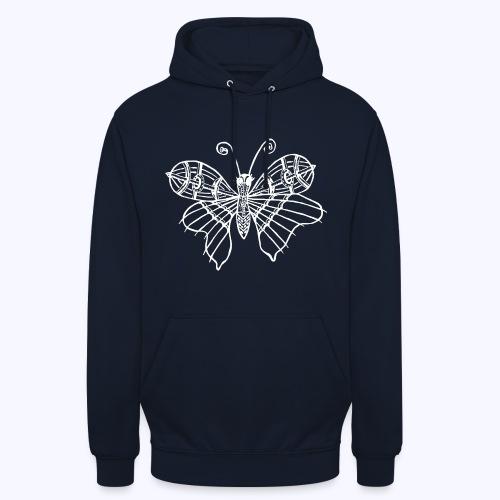 Schmetterling weiss - Unisex Hoodie