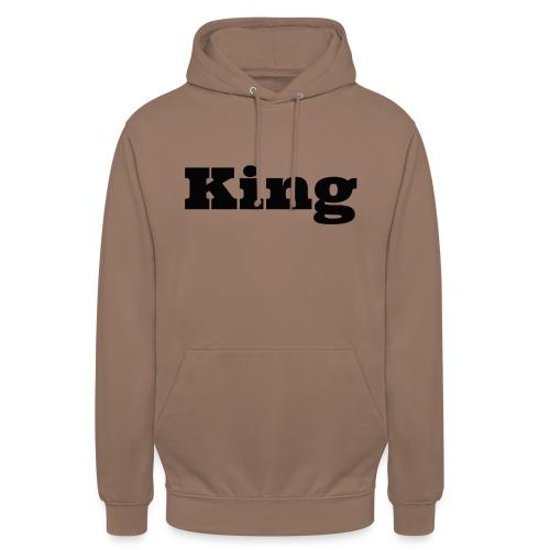 Snapback king rood/zwart - Hoodie unisex