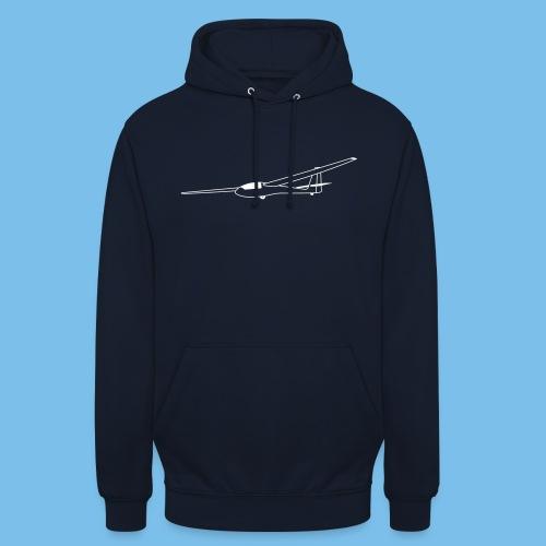 ASW15 Segelflugzeug weiss Tshirt Segelflieger - Unisex Hoodie