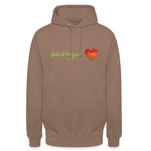 Roh & Vegan rotes Apfelherz (Rohkost) - Unisex Hoodie