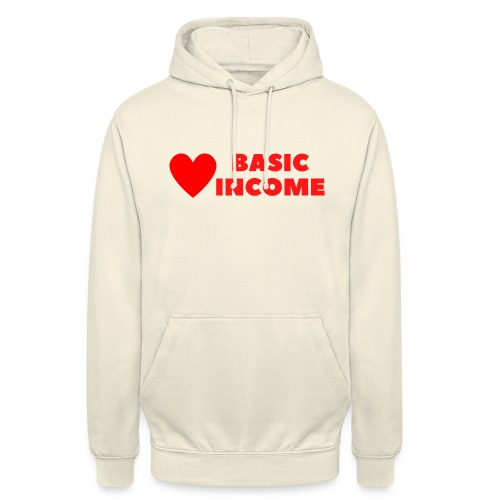 basic income red trans - Hoodie unisex