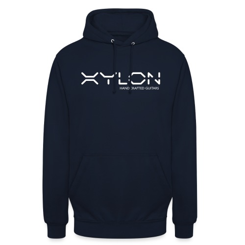 Xylon Handcrafted Guitars (name only logo white) - Unisex Hoodie