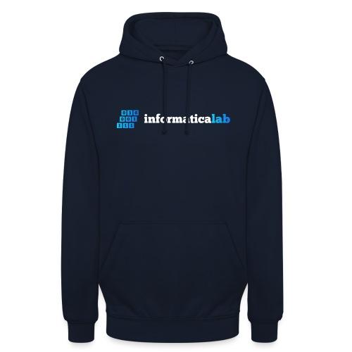 Logo bianco di InformaticaLab - Felpa con cappuccio unisex