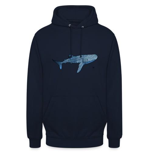 Whale shark - Felpa con cappuccio unisex