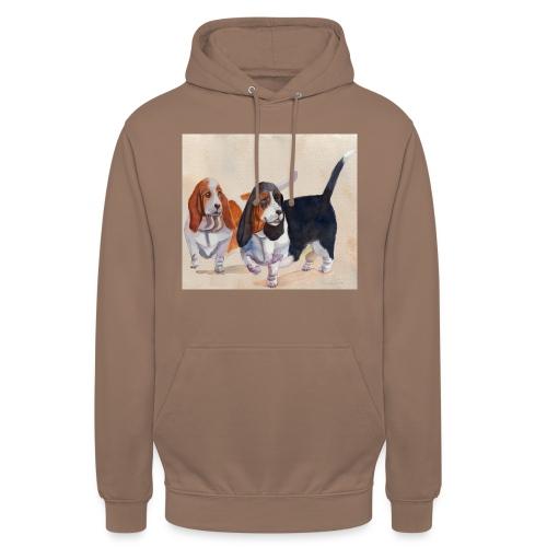 Basset hound_double-trot - Hættetrøje unisex