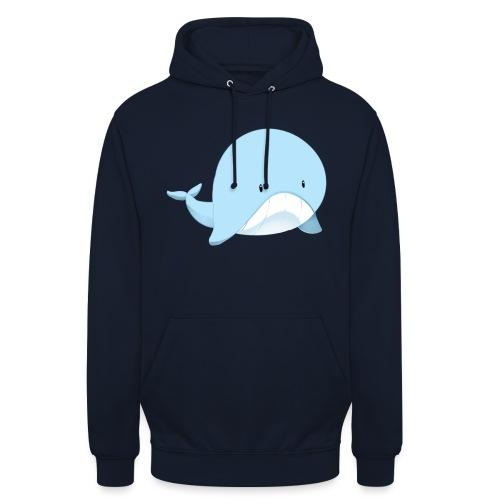 Whale - Felpa con cappuccio unisex